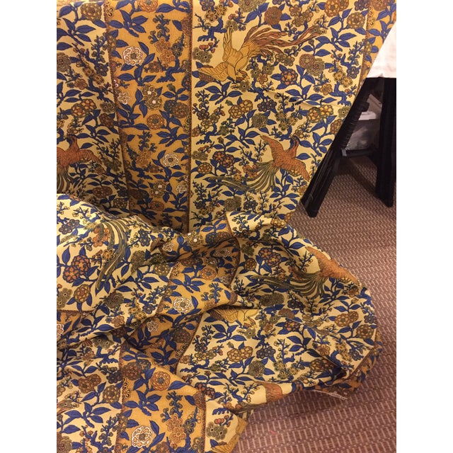 Vintage Greeff Japanese Border Fabric For Sale In Charlotte - Image 6 of 6
