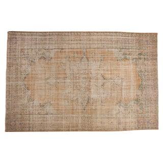 "Vintage Distressed Oushak Carpet - 7'4"" X 11'1"""
