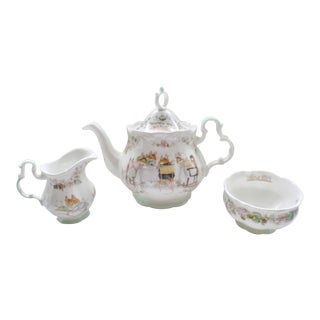 Royal Doulton Brambly Hedge England Full Size Tea Service - 3 Piece Set For Sale