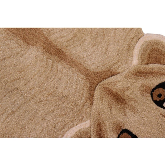 1990s Boho Chic Lioness Shaped Animal Design Area Rug For Sale - Image 5 of 12