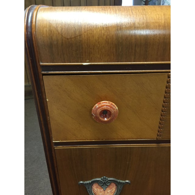 Art Deco Tall Dresser with Drawers - Image 4 of 11