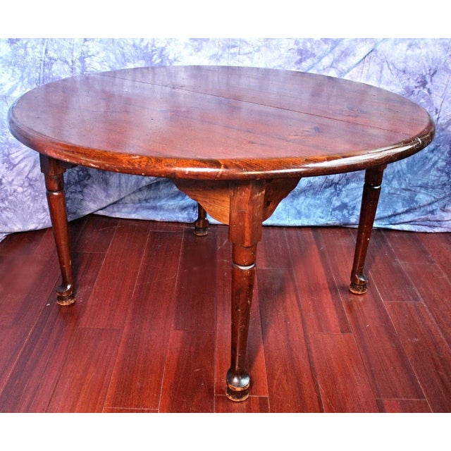 Antique Queen Anne Style Round Dining Table Chairish