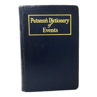 Putnam's Dictionary of Events by G P Putnam, 1927 For Sale