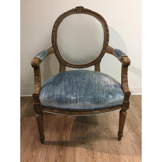 Vintage Louis XIV Fauteuil Chair - Image 5 of 5