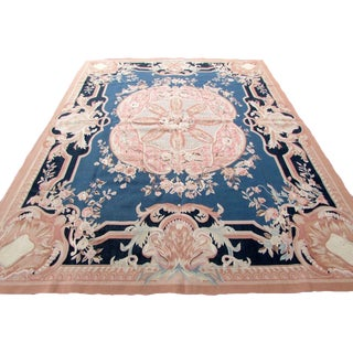 1980s, Handmade Vintage French Aubusson Rug 8' X 10.2' For Sale