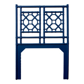 Lattice Back Headboard Twin - Navy Blue For Sale