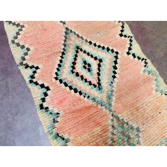 1970s Vintage Moroccan Beni Ourian Rug-3′12″ × 8′6″ For Sale - Image 6 of 11