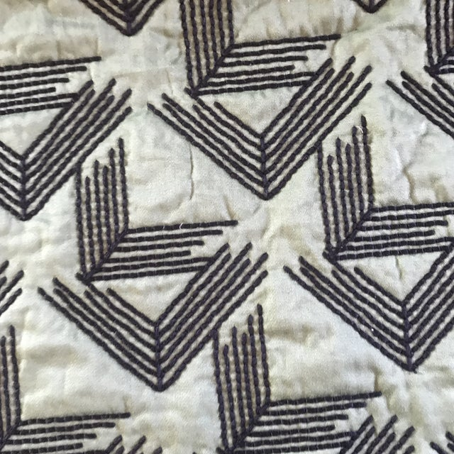 2 Yards of Miles Redd for Schumacher V Step in Loden The striking, quilted design was inspired by a document in the...