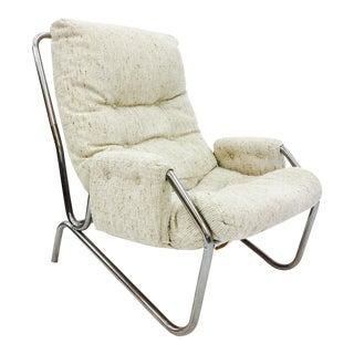 Vintage Mid Century Modern Tubular Chrome Arm Chair