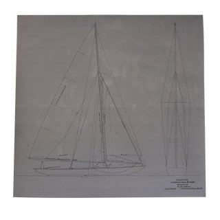 Naval Architecture Designer f.m. Hoyt Sailboat Reproduction For Sale