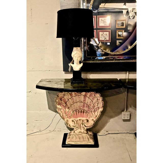 Hollywood Regency Hollywood Regency Shell Consoles - a Pair For Sale - Image 3 of 8