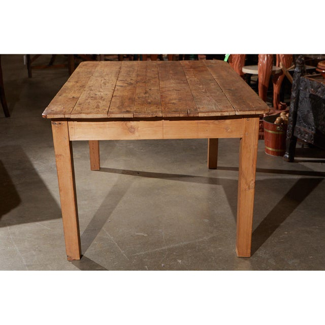 Late 19th Century Rustic Country Pine Table For Sale - Image 5 of 7