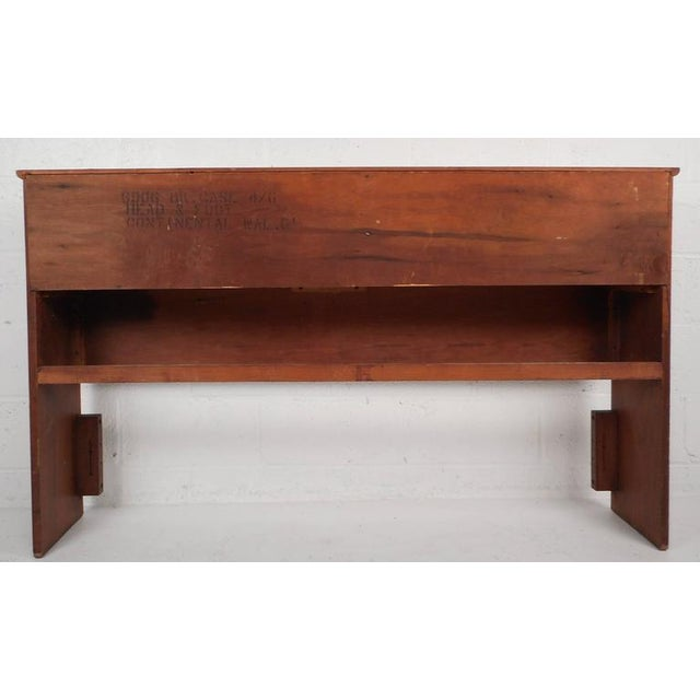 Mid-Century Modern Queen Size Bookshelf Headboard and Footboard - Image 4 of 9