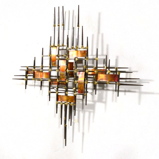 Abstract Wall Sculpture in Iron, Bronze & Copper For Sale In Chicago - Image 6 of 9
