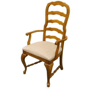 American Drew Saxony Collection Ladderback Dining Arm Chair For Sale