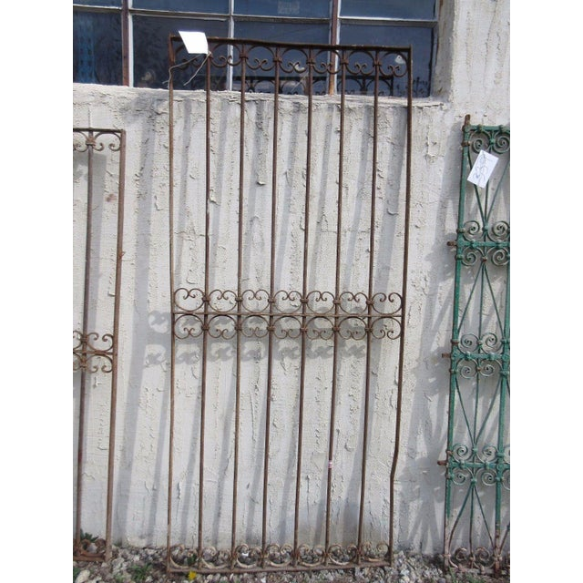 Antique Victorian Iron Salvage Gate For Sale In Philadelphia - Image 6 of 6