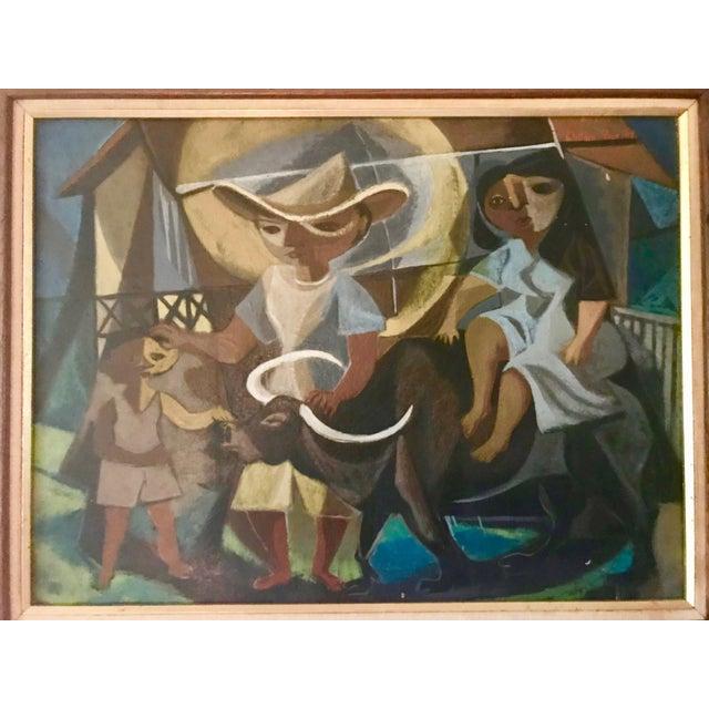 Cubism 1948 Vintage William Rose Modern Oil Painting For Sale - Image 3 of 10