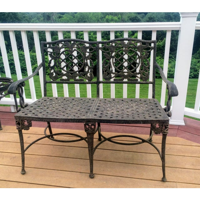 Cast Classics Cast Aluminum Settee & Table - A Pair - Image 4 of 11