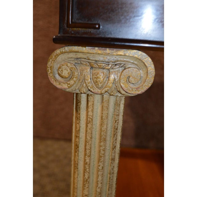 Vintage Neo-Classic Style Corenthian Column Leg Side Tables - a Pair For Sale In Philadelphia - Image 6 of 13