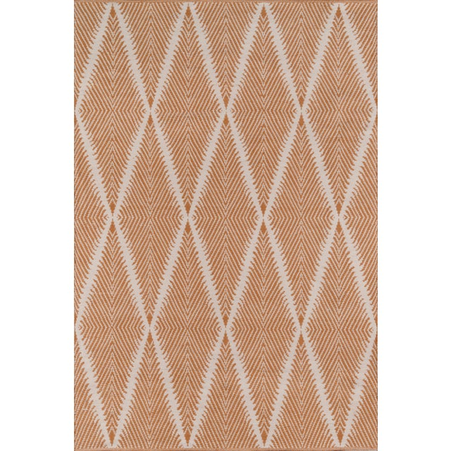 """Plastic Erin Gates by Momeni River Beacon Orange Indoor/Outdoor Hand Woven Area Rug - 3'6"""" X 5'6"""" For Sale - Image 7 of 7"""