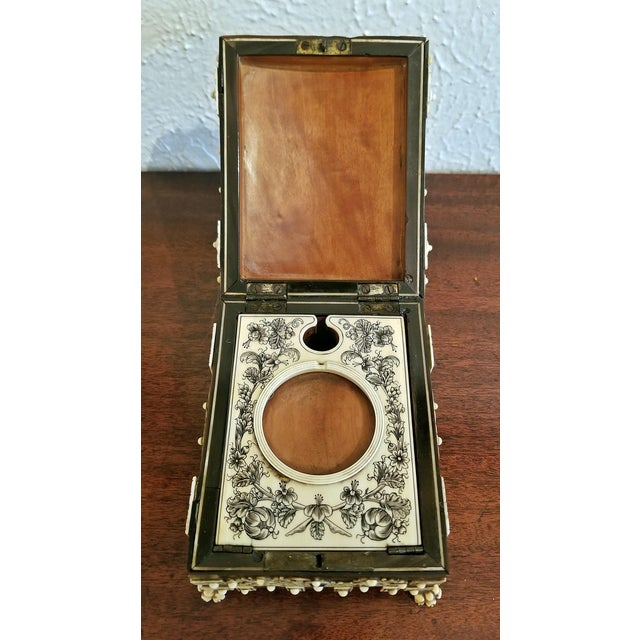 18th Century Anglo-Indian Vizigapatam Pocket Watch Display Box For Sale - Image 12 of 13