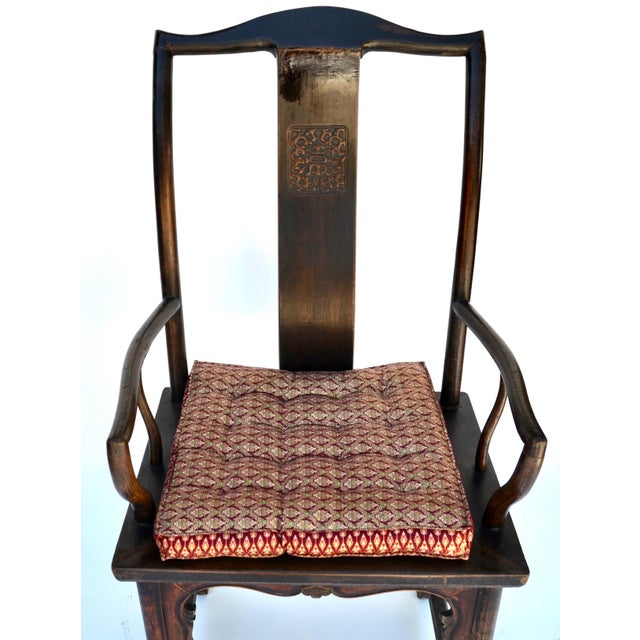 Antique Pair Tall Chinese Scholar Chairs For Sale In Los Angeles - Image 6 of 12