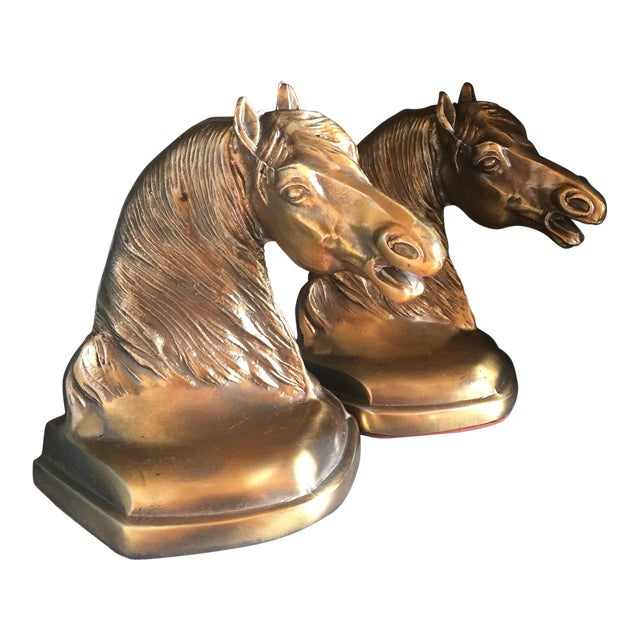 Brass Equestrian Bookends - A Pair - Image 1 of 5