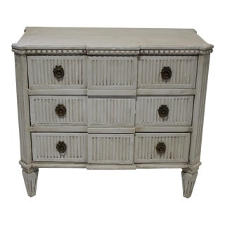 20th Century Vintage Swedish Solid Oak Gustavian Dresser