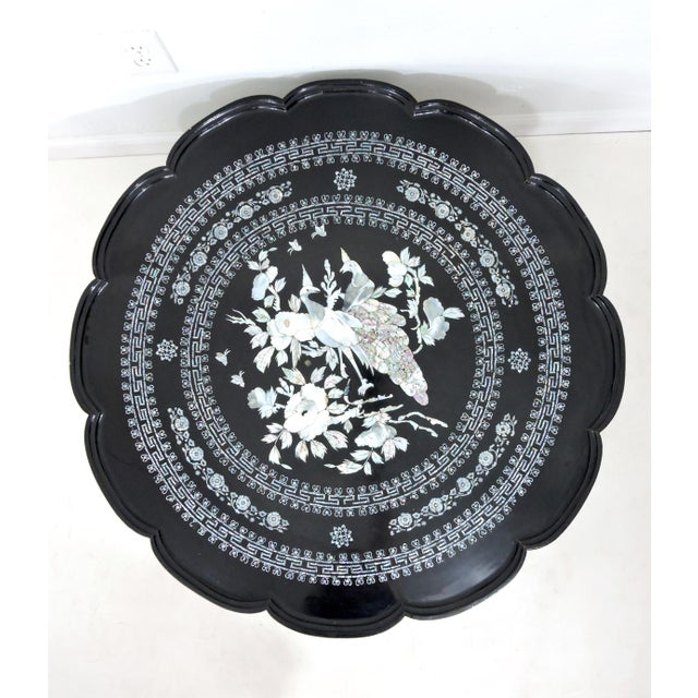 An exquisite piece of work - a side / coffee table with a difference - Asian occasional table with highly intricate mother...
