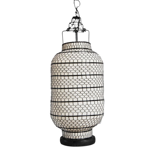 Cylinder Heibe Wire Lantern For Sale - Image 4 of 5