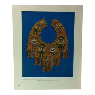 """Circa 1960 """"Gorget Made of Beads of Colored Shell - Chimu Style"""" Treasures of Ancient America Mounted Print For Sale"""