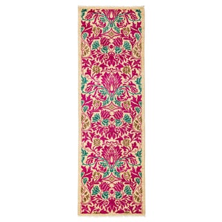 "Arts & Crafts Hand Knotted Runner - 2'7"" X 8'0"" For Sale"