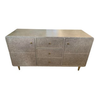 Mid-Century Modern Quenton Leather Buffet From Made Goods For Sale