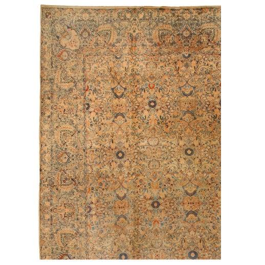 Antique Oversize Lavar Kerman Carpet - Image 1 of 1