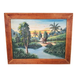 Vintage Tiki Painting I For Sale