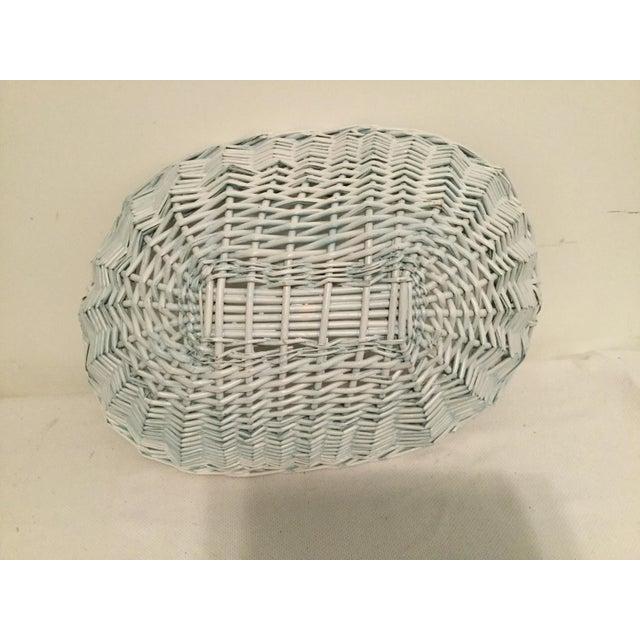 Ornamental & Decorative Materials White Wicker Basket For Sale - Image 7 of 8