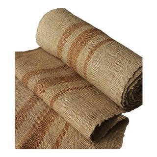 Grain Sack Grainsack Fabric 8.6yd Gold Antique Linen Hemp Organic Hemp Material For Sale
