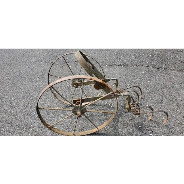 Metal Diminutive Antique Farm Plow Farmhouse Decor For Sale - Image 7 of 7