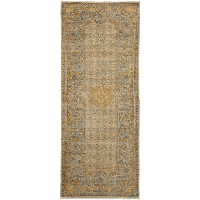 "Traditional Hand Knotted Runner - 3'2"" X 7'10"" - Image 1 of 3"