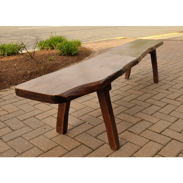 Country French Live-Slab Top Bench For Sale - Image 3 of 7