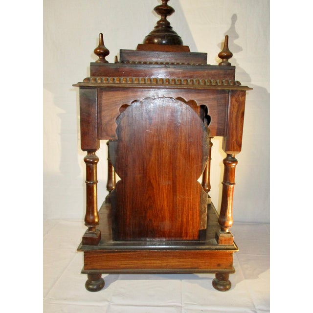 Late 19th Century Vintage Indian Rosewood House Shrine Model For Sale - Image 4 of 12