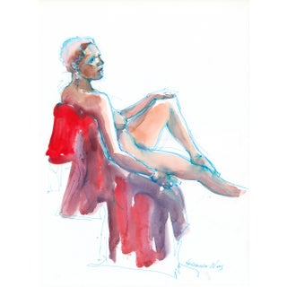 Q Is for Quiet Original Nude Figure Painting For Sale