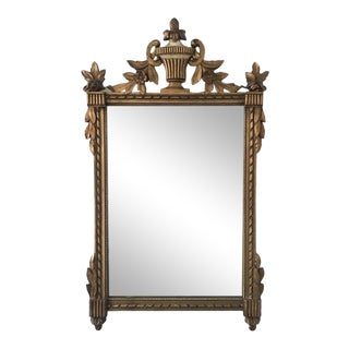Old Louis XV French Style Gilt Wood Mirror