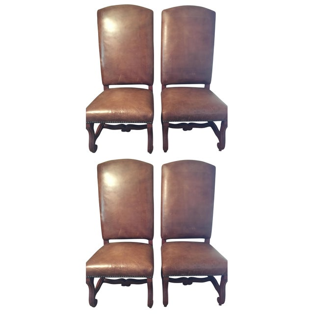 Ralph Lauren Leather Dining or Accent Chairs - S/4 - Image 1 of 6