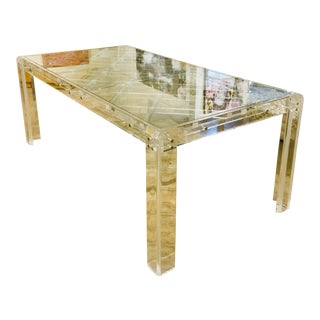 Hollywood Regency Lucite Trellis Dining Table For Sale