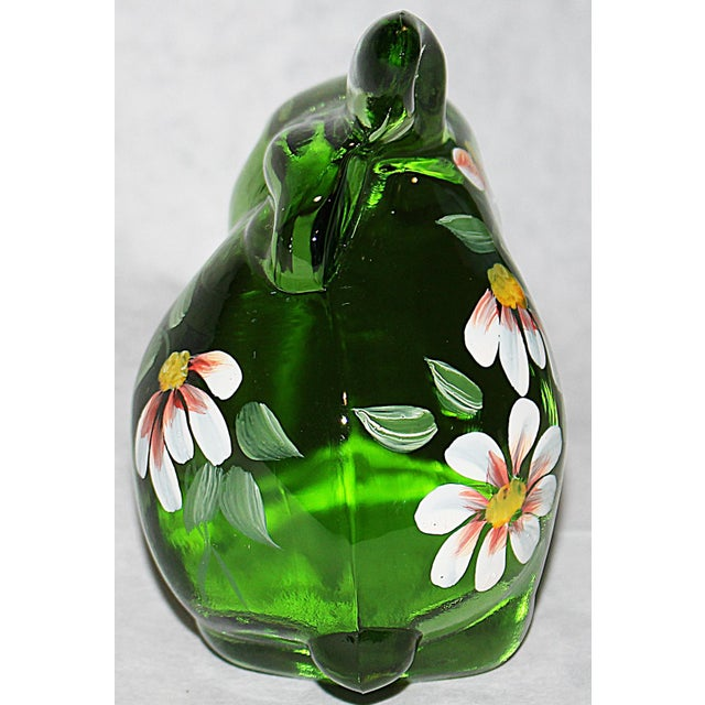 Fenton Hand Painted Glass Bunny For Sale - Image 5 of 7