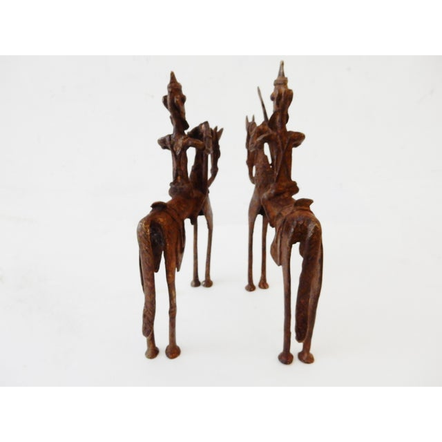 African Dogon Bronze Horseman Mali - Pair For Sale - Image 7 of 10