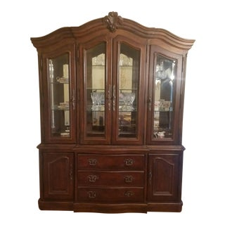 Bernhardt Antique Handcrafted Hardwood Cabinet For Sale