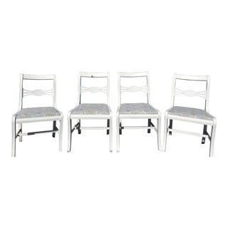 Vintage Upholstered Dining Chairs - Set of 4