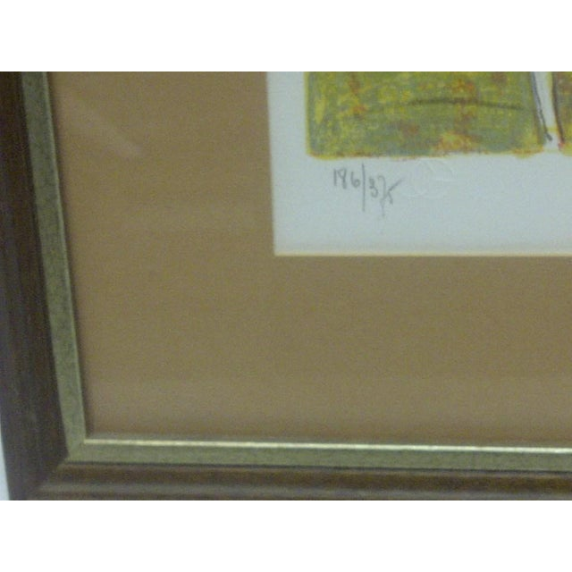 """Late 20th Century """"Horses on Parade"""" Framed & Matted Limited Edition Signed Numbered (186/375) Print For Sale - Image 5 of 8"""